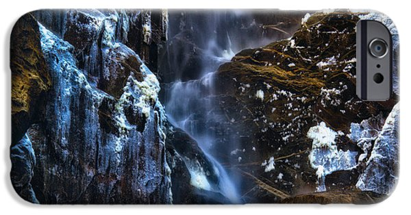 A Sunny Morning iPhone Cases - Warm Cold Water and Ice iPhone Case by Anthony Bonafede