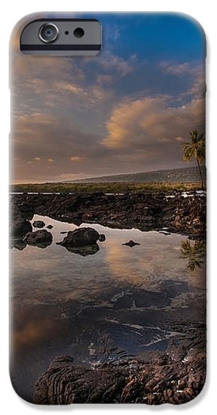 Warm Reflected Place of Refuge Skies iPhone Case by Mike Reid