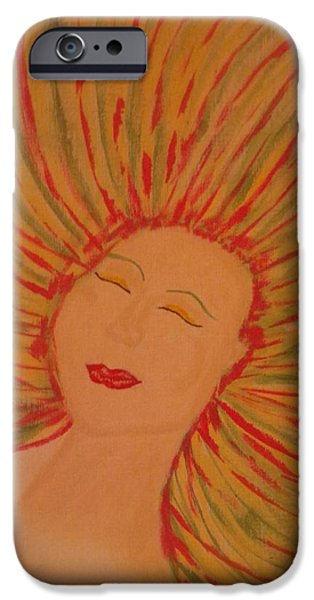 Inner Self Paintings iPhone Cases - Warm Thoughts iPhone Case by Erica  Darknell