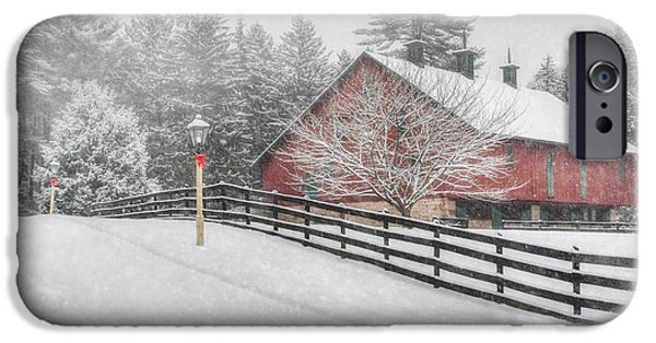 Wintry Digital iPhone Cases - Warmest Holiday Wishes iPhone Case by Lori Deiter