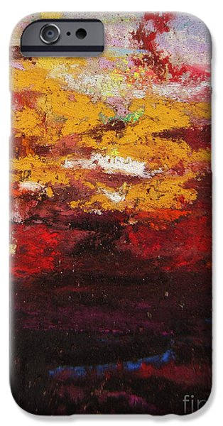 Pollock Pastels iPhone Cases - Warmth iPhone Case by John Clark