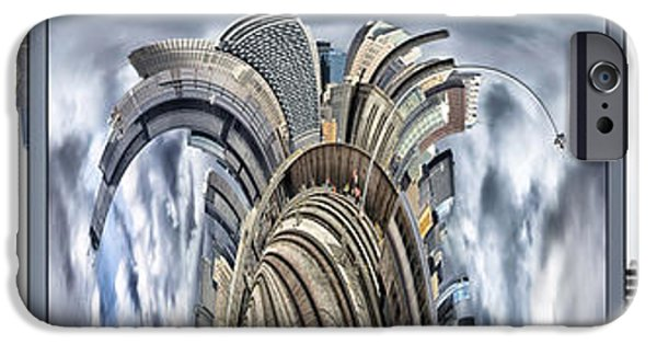 Business Digital iPhone Cases - Warp Speed Chicago 3 Panel Composite iPhone Case by Thomas Woolworth