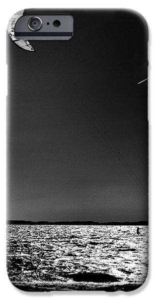 Kite Boarding iPhone Cases - Warp Speed iPhone Case by Robert McCubbin