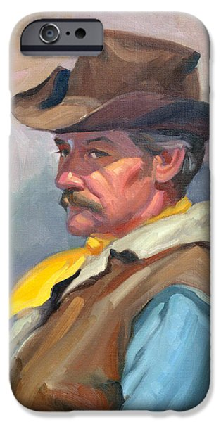 Character Study iPhone Cases - Warren iPhone Case by Leona Turner