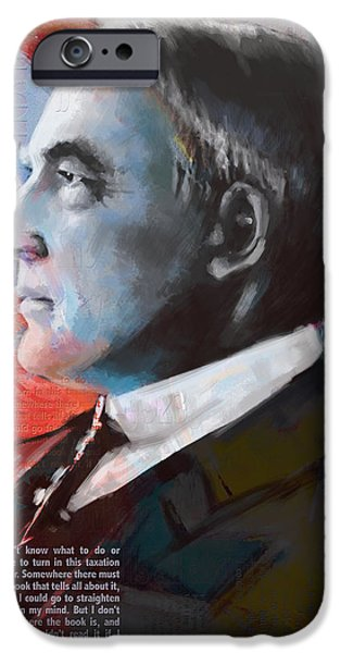 Thomas Jefferson Paintings iPhone Cases - Warren G. Harding iPhone Case by Corporate Art Task Force