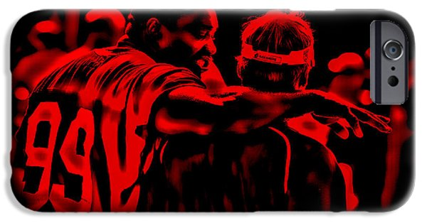 University Of Miami iPhone Cases - Warren Sapp and Jon Gruden iPhone Case by Brian Reaves