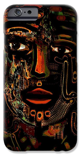 Lips iPhone Cases - Warrior iPhone Case by Natalie Holland