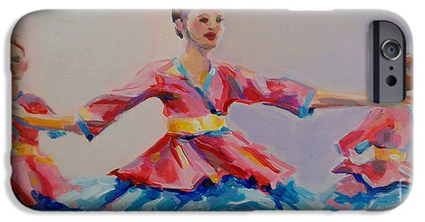 Ballet Dancers iPhone Cases - Warrior Princess iPhone Case by Kimberly Santini