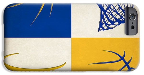 Warrior iPhone Cases - Warriors Ball And Hoop iPhone Case by Joe Hamilton