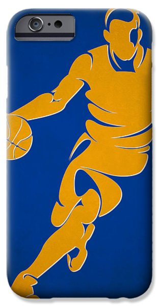 Warrior iPhone Cases - Warriors Basketball Player1 iPhone Case by Joe Hamilton