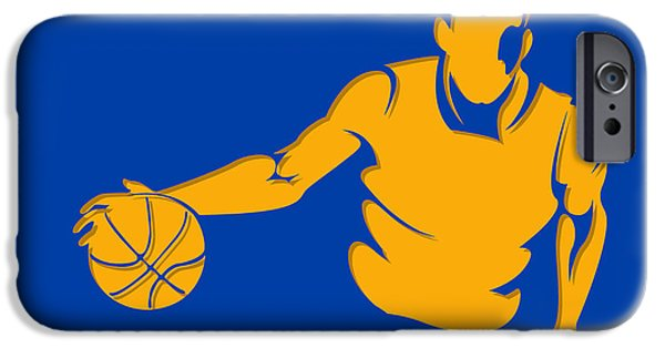 Warrior iPhone Cases - Warriors Basketball Player2 iPhone Case by Joe Hamilton