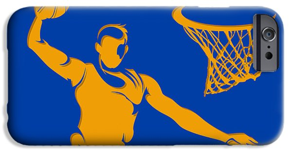 Warrior iPhone Cases - Warriors Basketball Player3 iPhone Case by Joe Hamilton