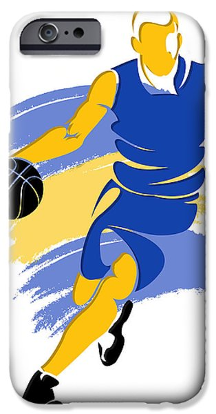 Warrior iPhone Cases - Warriors Basketball Player5 iPhone Case by Joe Hamilton