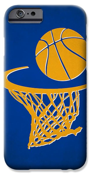 Warrior iPhone Cases - Warriors Team Hoop2 iPhone Case by Joe Hamilton