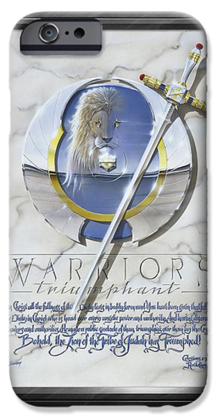 Warrior iPhone Cases - Warriors Triumphant with Faux Matte iPhone Case by Cliff Hawley
