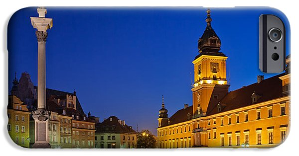 Polish Culture iPhone Cases - Warsaw by Night iPhone Case by Artur Bogacki