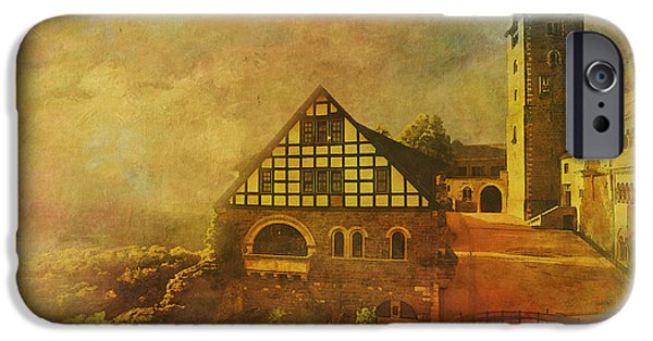 Museum iPhone Cases - Wartburg Castle iPhone Case by Catf
