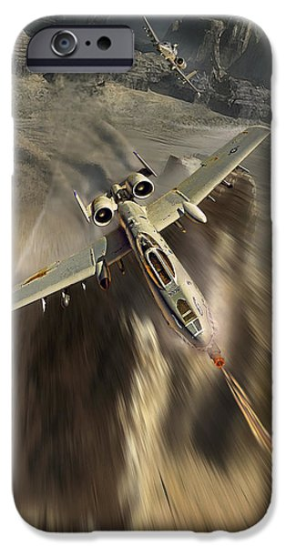 Wwi iPhone Cases - Warthog business end iPhone Case by Peter Van Stigt