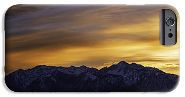 Winter iPhone Cases - Wasatch Dawn iPhone Case by Chad Dutson