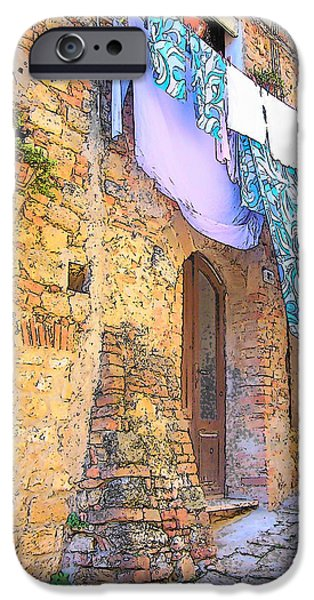 Delicatessen iPhone Cases - Wash Day Tuscany iPhone Case by Jan Matson