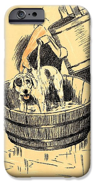 Best Sellers -  - Business Pastels iPhone Cases - Washed By Mary - A Dog Day Collection 4 of 27 iPhone Case by Cecil Aldin