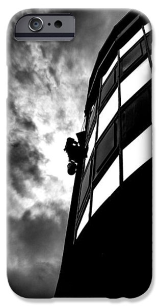 Washing Windows in the city iPhone Case by Bob Orsillo