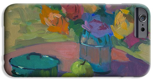 Glass Vase iPhone Cases - Washington Apples iPhone Case by Diane McClary