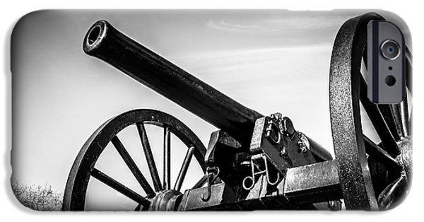 Artillery iPhone Cases - Washington Artillery Park Cannon in New Orleans iPhone Case by Paul Velgos