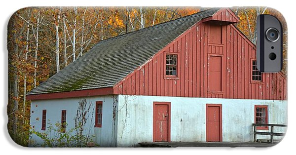 Grist Mill iPhone Cases - Washington Crossing Thompson-Neely Grist Mill iPhone Case by Adam Jewell