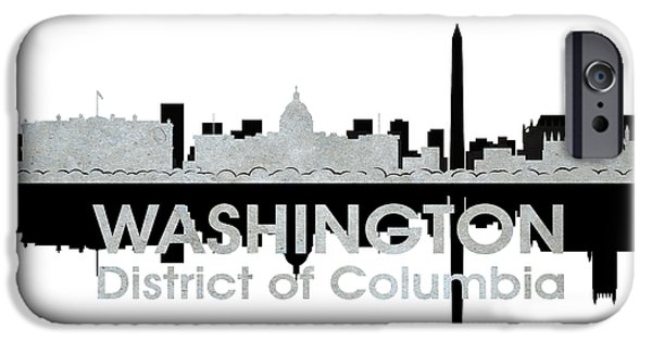 Buildings Mixed Media iPhone Cases - Washington DC 4 iPhone Case by Angelina Vick