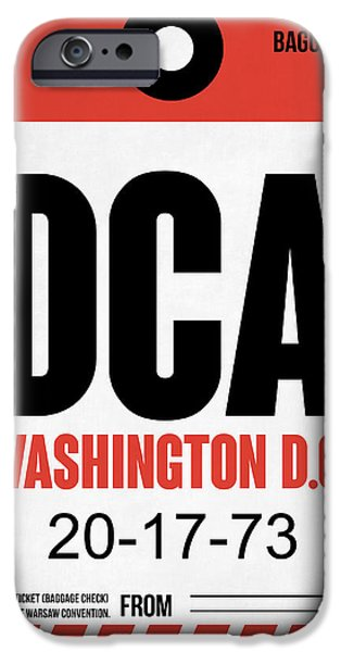 Cities Mixed Media iPhone Cases - Washington D.C. Airport Poster 1 iPhone Case by Naxart Studio
