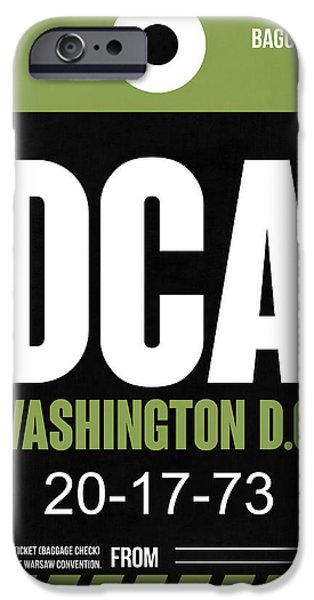 Cities Mixed Media iPhone Cases - Washington D.C. Airport Poster 2 iPhone Case by Naxart Studio