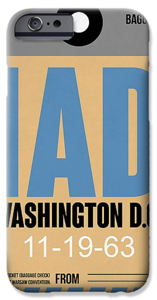 Cities Mixed Media iPhone Cases - Washington D.C. Airport Poster 3 iPhone Case by Naxart Studio
