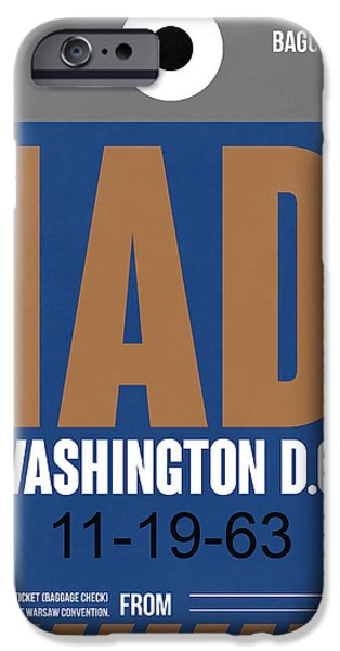 Cities Mixed Media iPhone Cases - Washington D.C. Airport Poster 4 iPhone Case by Naxart Studio