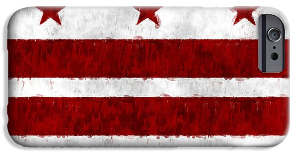 D.c. Digital iPhone Cases - Washington D.C. Flag iPhone Case by World Art Prints And Designs