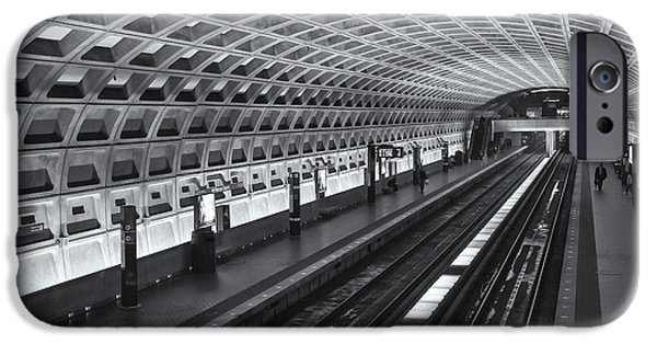 Brutalism iPhone Cases - Washington DC Metro Station I iPhone Case by Clarence Holmes