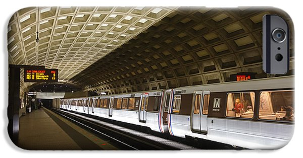 Brutalism iPhone Cases - Washington DC Metro Station III iPhone Case by Clarence Holmes
