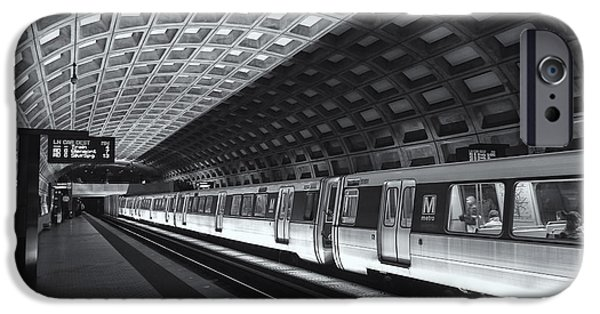 Brutalist iPhone Cases - Washington DC Metro Station IV iPhone Case by Clarence Holmes
