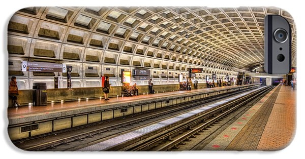 Brutalist iPhone Cases - Washington DC Metro Station IX iPhone Case by Clarence Holmes