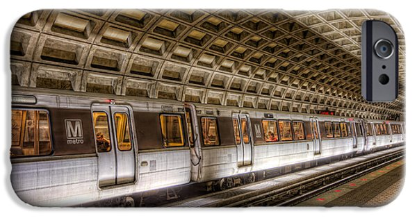 Brutalism iPhone Cases - Washington DC Metro Station V iPhone Case by Clarence Holmes