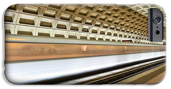 Brutalist iPhone Cases - Washington DC Metro Station VII iPhone Case by Clarence Holmes