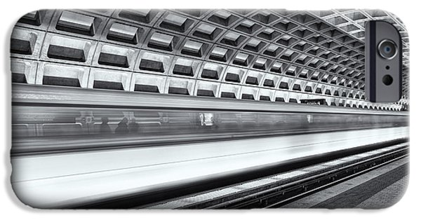 Brutalism iPhone Cases - Washington DC Metro Station VIII iPhone Case by Clarence Holmes