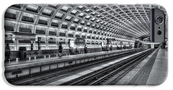 Brutalism iPhone Cases - Washington DC Metro Station X iPhone Case by Clarence Holmes