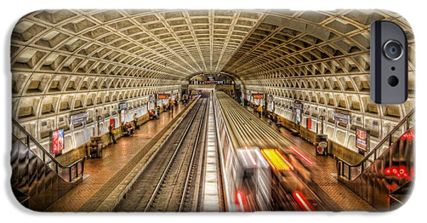 Brutalism iPhone Cases - Washington DC Metro Station XI iPhone Case by Clarence Holmes