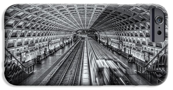 Brutalism iPhone Cases - Washington DC Metro Station XII iPhone Case by Clarence Holmes