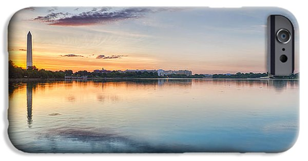 Capitol iPhone Cases - Washington DC Panorama iPhone Case by Sebastian Musial