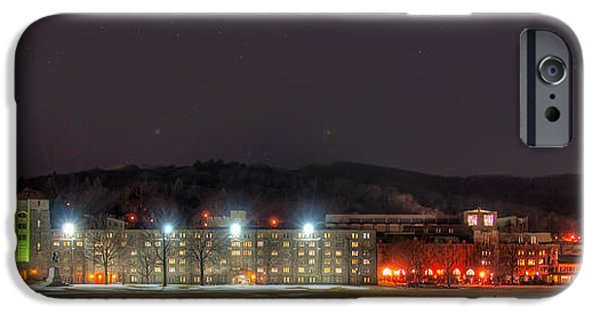 United iPhone Cases - Washington Hall at Night iPhone Case by Dan McManus