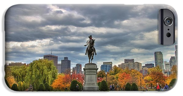 Joann Vitali iPhone Cases - Washington in the Public Garden iPhone Case by Joann Vitali