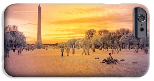 District Columbia Photographs iPhone Cases - Washington Memorial iPhone Case by Jonas Luis