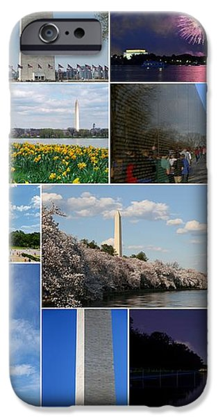 Washington Monument Collage 2 iPhone Case by Allen Beatty